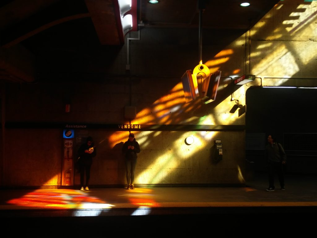 Coloured Light in a Metro